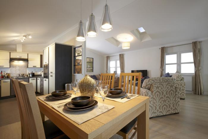Dining area park home open plan Dorset